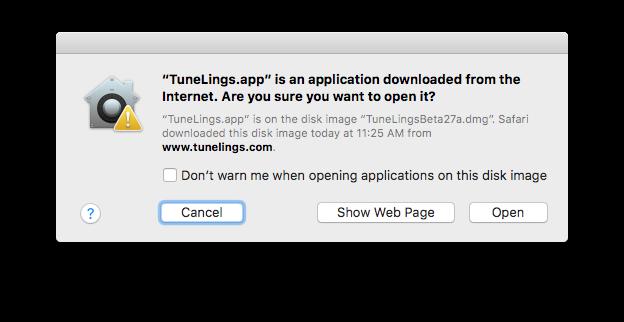 Download App message