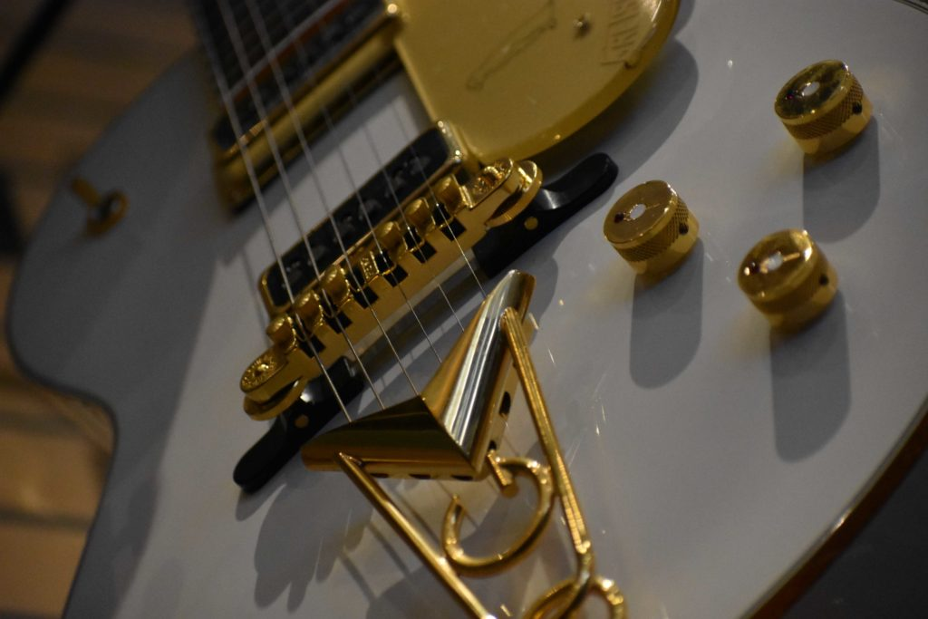 White Gretsch guitar