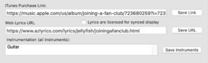 iTunes Link Field