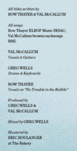 Beau Bow de Lune Album Credits