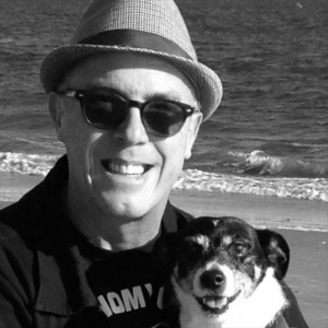 Freedy Johnston and dog